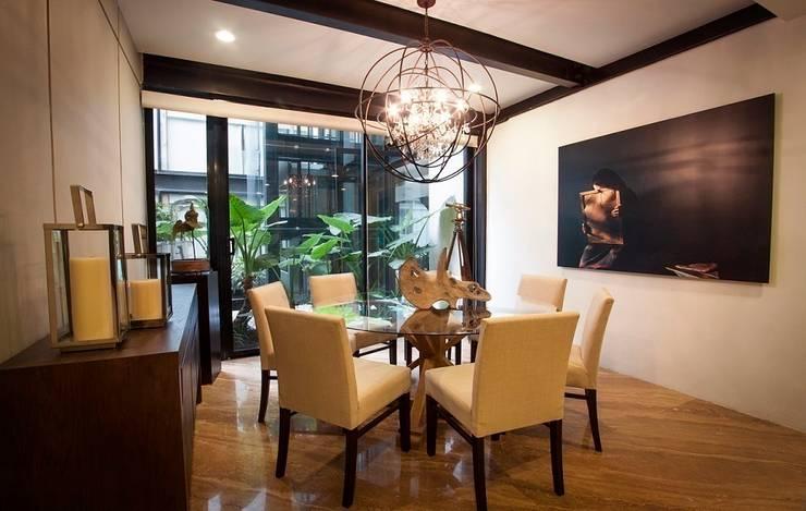 Salas / recibidores de estilo moderno por Concepto Taller de Arquitectura