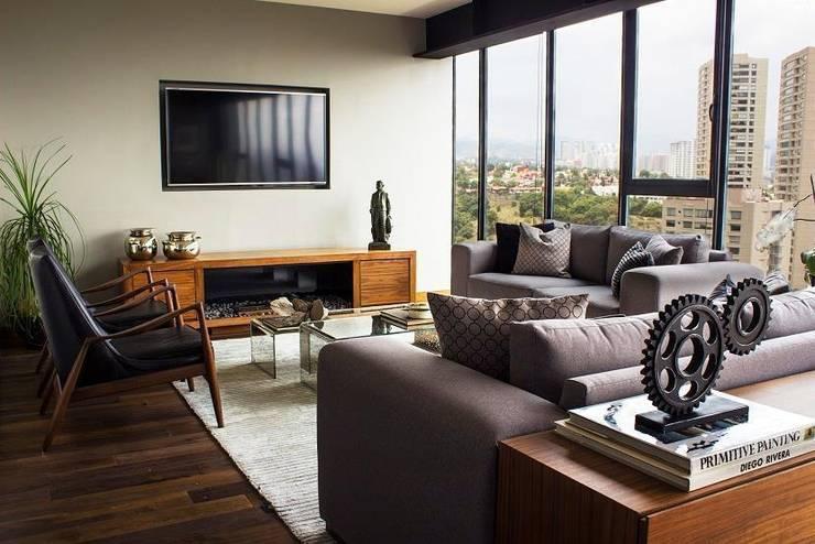 Living room by Concepto Taller de Arquitectura
