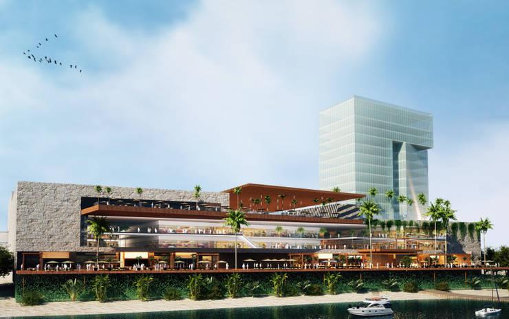 ANDAMAR: Centros Comerciales de estilo  por Marmoles ARCA