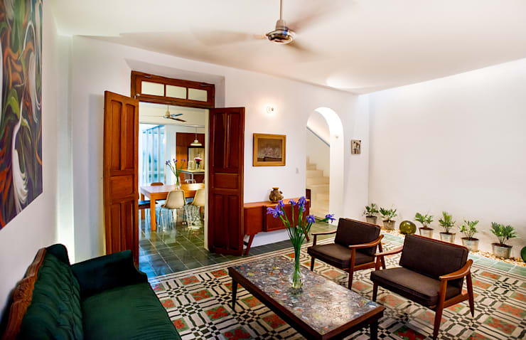 modern Living room by Taller Estilo Arquitectura