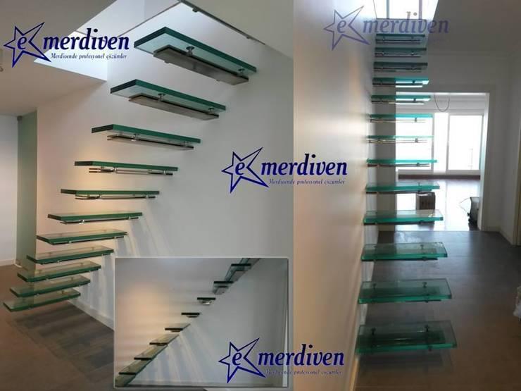 tutkukulege – Cihangir Cam Basamaklı Merdiven - Sinan Gül' ün evi. :  tarz İç Dekorasyon