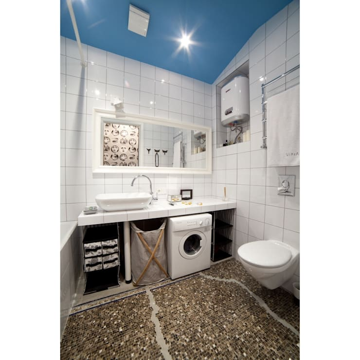 Ботаническая: Ванные комнаты в . Автор – арХбабы