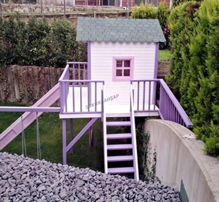 Sakura Ahşap – Ahşap Oyun Evi Eflatun:  tarz Bahçe