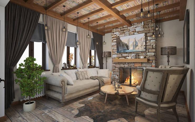 Salas / recibidores de estilo mediterraneo por room4life