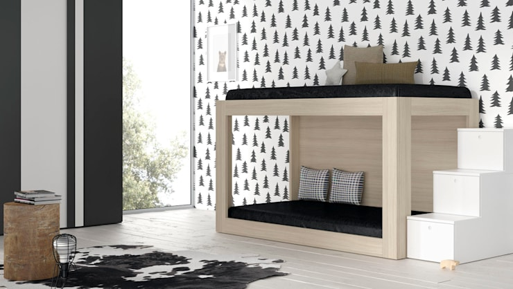 Mueble juvenil litera: Dormitorios de estilo moderno de Basoa Decoración