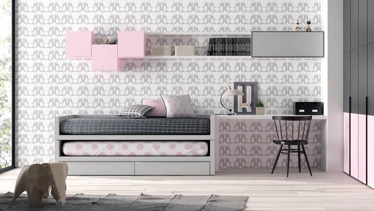 Dormitorios de estilo  por Basoa Decoración