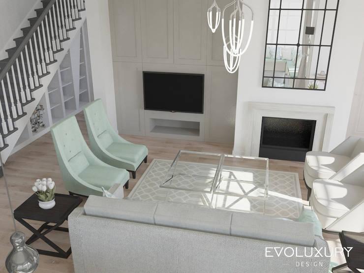 BROADWAY: styl , w kategorii Salon zaprojektowany przez EVOLUXURY DESIGN,Klasyczny