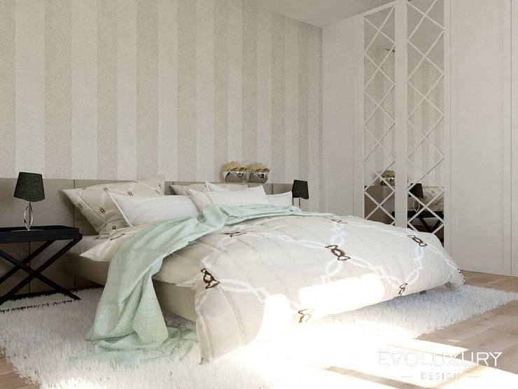 BROADWAY: styl , w kategorii Sypialnia zaprojektowany przez EVOLUXURY DESIGN,Klasyczny