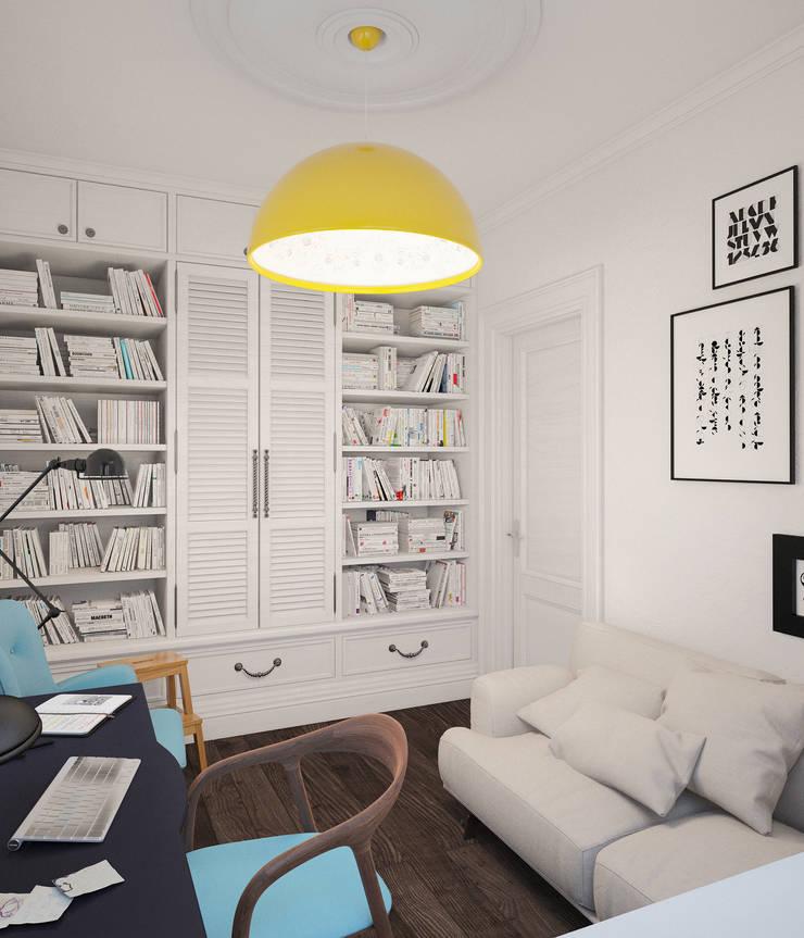 Скандинавский дом: Рабочие кабинеты в . Автор – room4life, Скандинавский