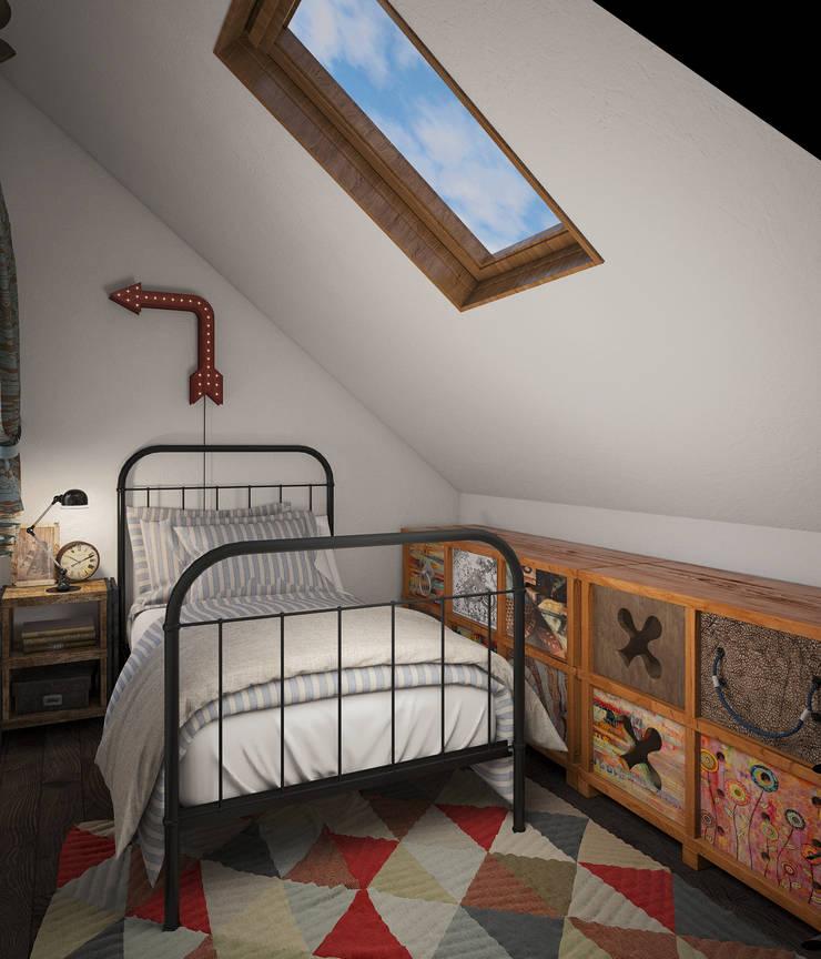 Скандинавский дом: Спальни в . Автор – room4life, Скандинавский
