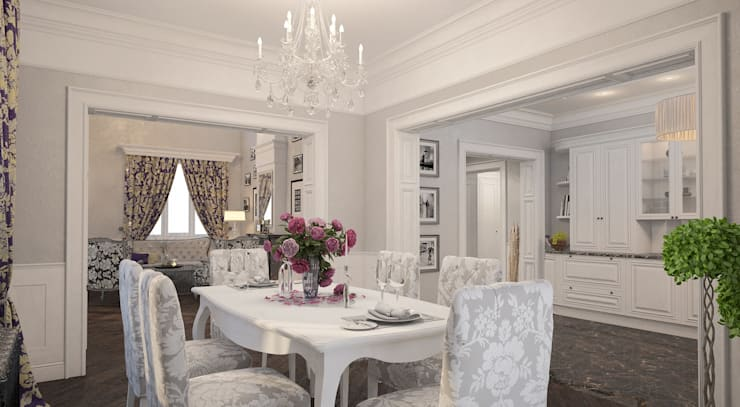Неоклассика: Столовые комнаты в . Автор – room4life