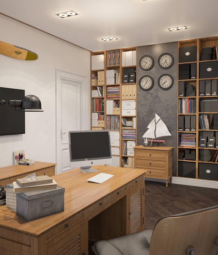 Неоклассика: Рабочие кабинеты в . Автор – room4life