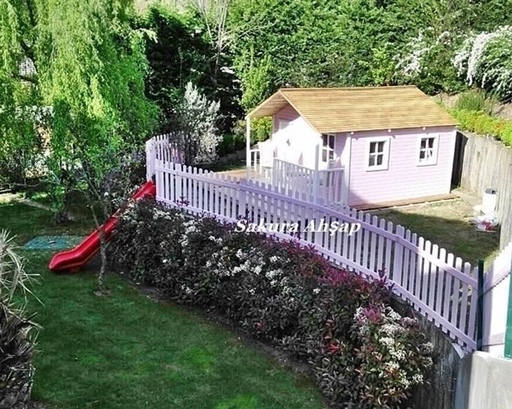 Sakura Ahşap – Ahşap Prenses Oyun Evi:  tarz Bahçe