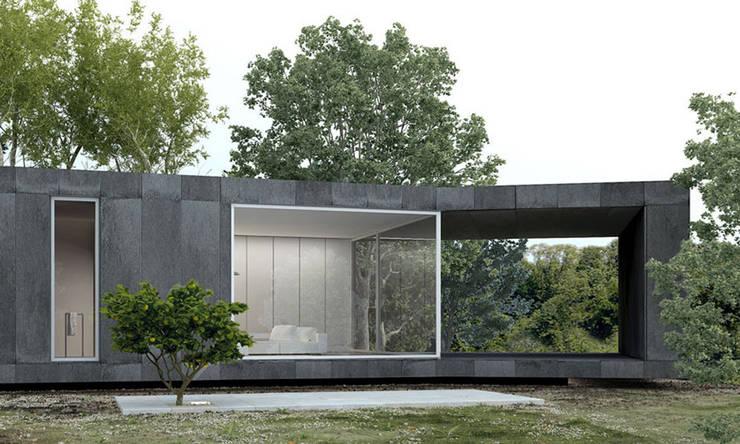 eco casa: Casas minimalistas por Artspazios, arquitectos e designers