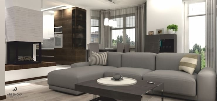 Projekt domu : styl , w kategorii Salon zaprojektowany przez Artenova Design