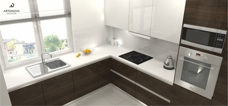 Projekt domu : styl , w kategorii Kuchnia zaprojektowany przez Artenova Design,Nowoczesny