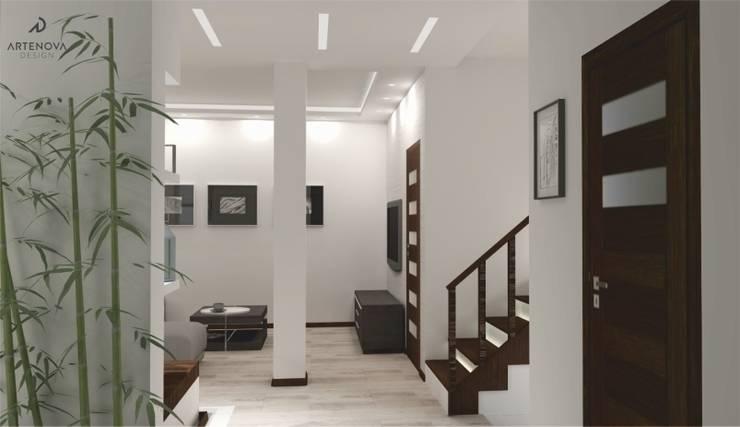 Projekt domu : styl , w kategorii Korytarz, przedpokój zaprojektowany przez Artenova Design,Nowoczesny