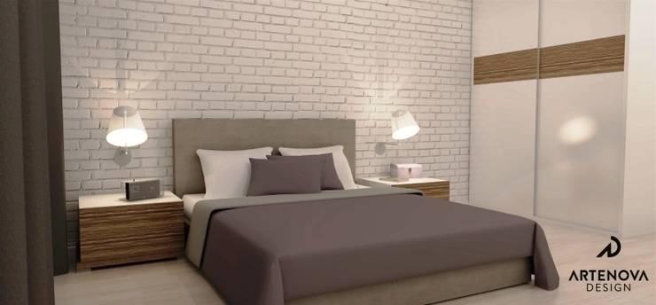 Mieszkanie Warszawa : styl , w kategorii Sypialnia zaprojektowany przez Artenova Design