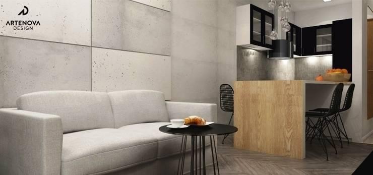 Mieszkanie Warszawa : styl , w kategorii Kuchnia zaprojektowany przez Artenova Design