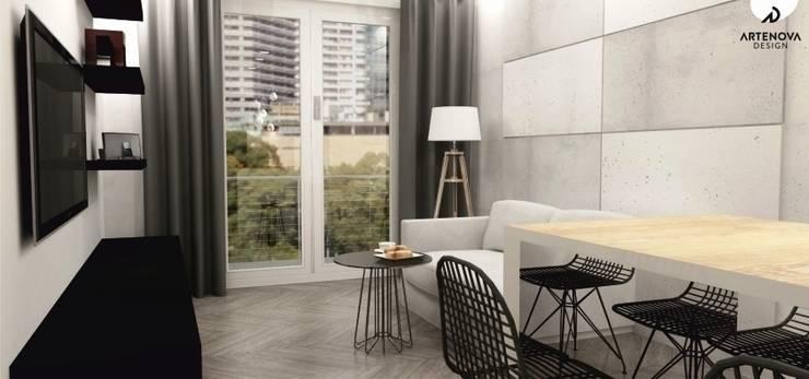 Mieszkanie Warszawa : styl , w kategorii Salon zaprojektowany przez Artenova Design