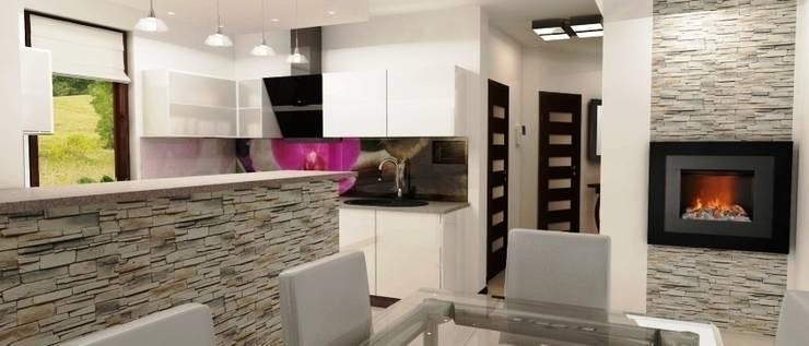 Projekt domu: styl , w kategorii Kuchnia zaprojektowany przez Artenova Design,Nowoczesny