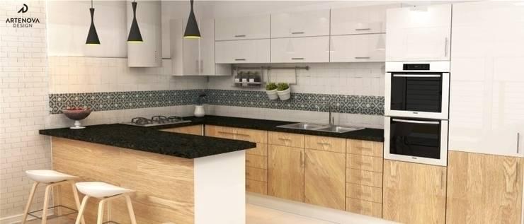 nowoczesne mieszkanie : styl , w kategorii Kuchnia zaprojektowany przez Artenova Design