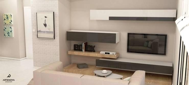 nowoczesne mieszkanie : styl , w kategorii Salon zaprojektowany przez Artenova Design