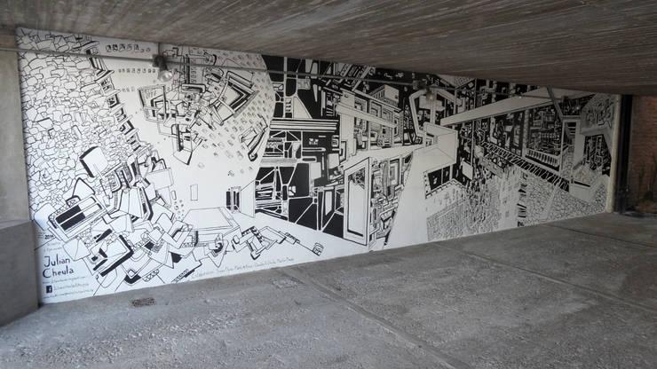 Mural Completo: Arte de estilo  por Julián Cheula