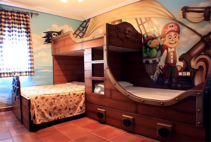 Habitación temática de piratas:  de estilo  de Art4kids, Mediterráneo