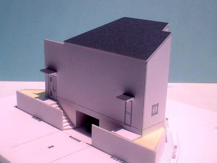 模型(道路側): OSM建築設計事務所が手掛けた家です。