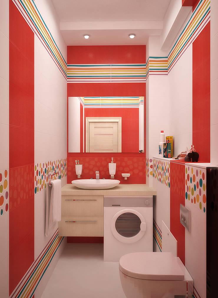 Летнее настроение для ванной: Ванные комнаты в . Автор – Студия дизайна Interior Design IDEAS