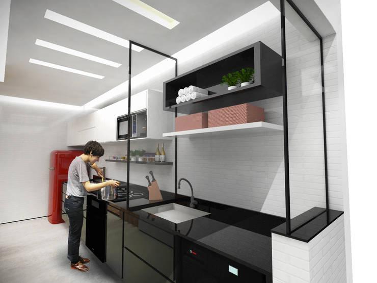 Cozinha: Cozinhas minimalistas por Paula Werneck Arquitetura
