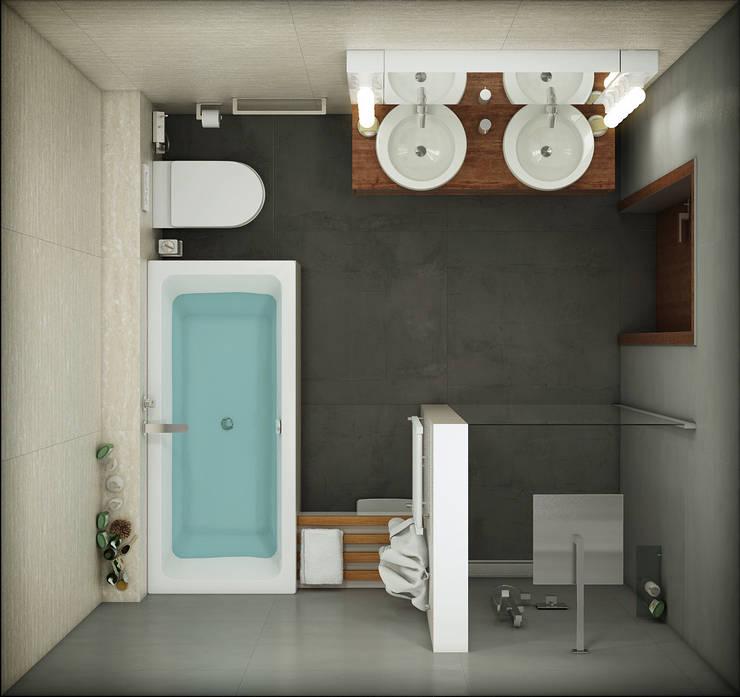 КВАРТИРА ДЛЯ МОЛОДОЙ СЕМЬИ: Ванная комната в . Автор – Васечкин  Design
