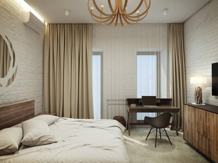 КВАРТИРА ДЛЯ МОЛОДОЙ СЕМЬИ: Спальная комната  в . Автор – Васечкин  Design