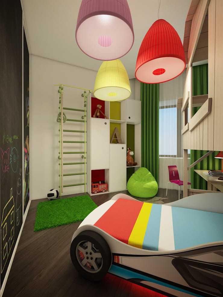 КВАРТИРА ДЛЯ МОЛОДОЙ СЕМЬИ: Детская комната в . Автор – Васечкин  Design