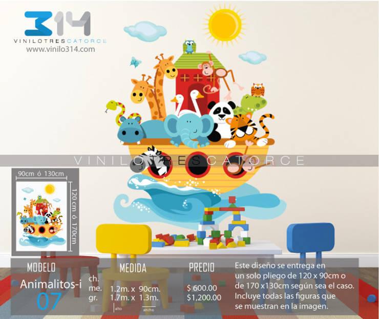 Vinilo Decorativo Arca de Noe: Recámaras infantiles de estilo  por Vinilo314
