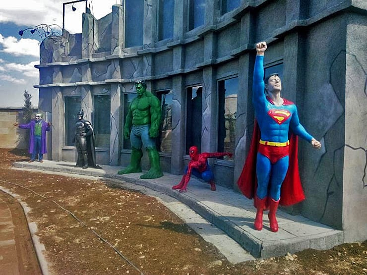 Çamur Sanat  – Süper kahramanlar: minimalist tarz , Minimalist