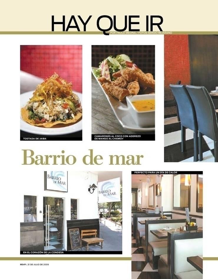 CARTELES, REVISTAS, PUBLICIDAD: Restaurantes de estilo  por Karell Studio