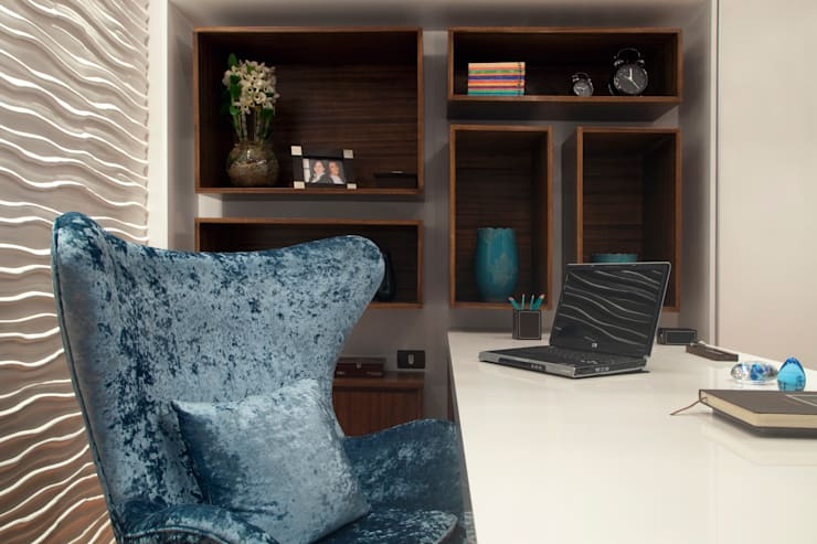 Study/office by  Adriana Fiali e Rose Corsini - FICODesign , Eclectic