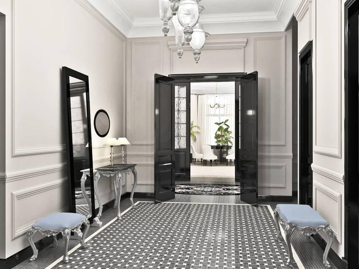 Дизайн-проект квартиры в Доме Бенуа: Коридор и прихожая в . Автор – Мария Бекетова  Света Лапина,