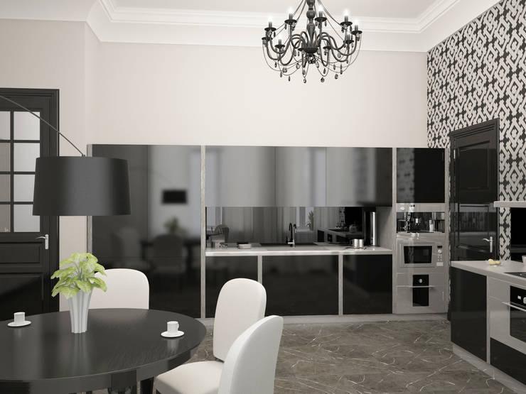 Дизайн-проект квартиры в Доме Бенуа: Кухни в . Автор – Мария Бекетова  Света Лапина,