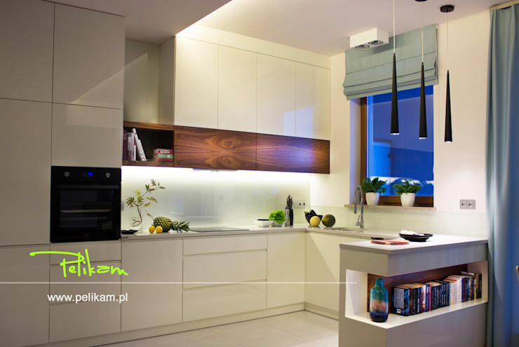 Mieszkanie w Warszawie: styl , w kategorii Kuchnia zaprojektowany przez PELIKAM,