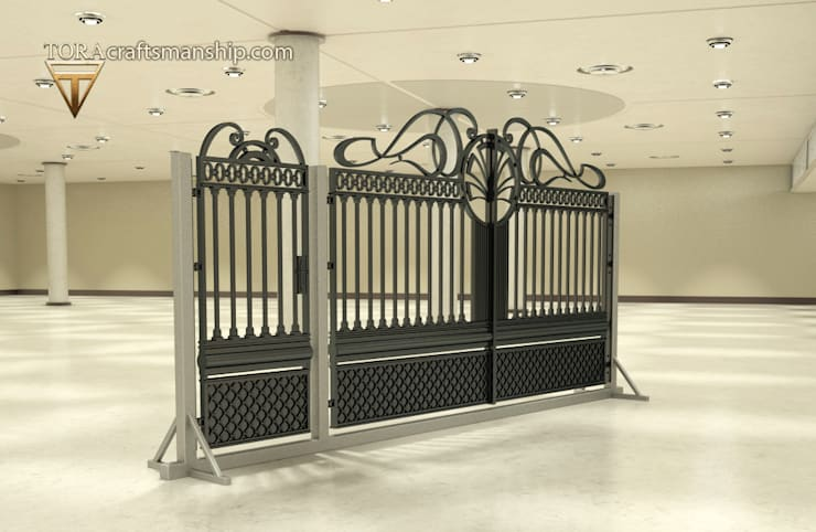 """""""Symetria"""": styl , w kategorii  zaprojektowany przez TORA bramy i ogrodzenia"""