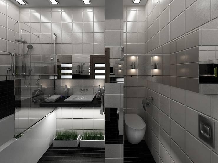 Квартира в ЖК <q>Новая Скандинавия</q>: Ванные комнаты в . Автор – DEMARKA