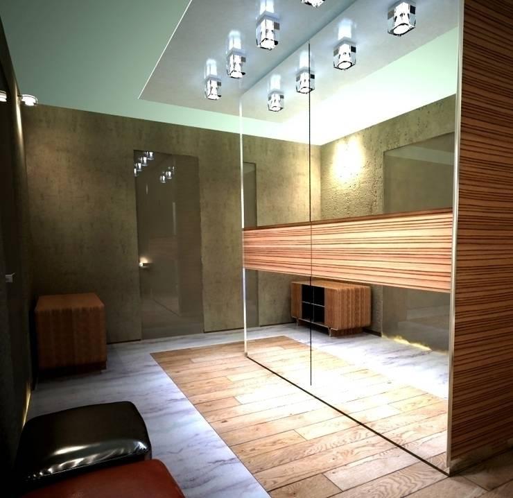 Дизайн-проект квартиры в современном стиле: Коридор и прихожая в . Автор – DEMARKA