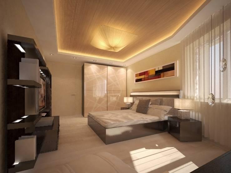 Дизайн-проект квартиры в современном стиле: Спальни в . Автор – DEMARKA
