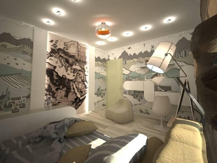 Дизайн-проект квартиры в современном стиле: Детские комнаты в . Автор – DEMARKA