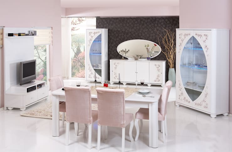 ERONUR MOBİLYA – taçmahal yemek odası takımı:  tarz , Klasik