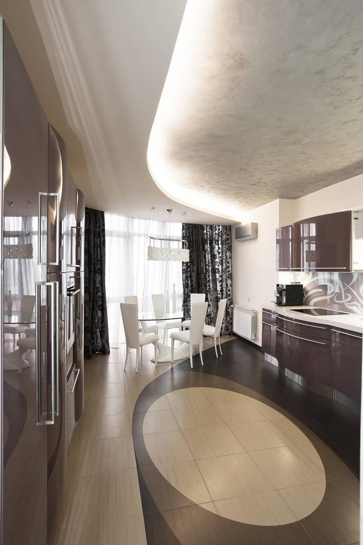 """Дизайн квартиры """"Интерьер для молодой семьи"""": Кухни в . Автор – Samarina projects"""
