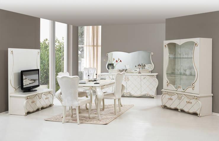 ERONUR MOBİLYA – şehrazat yemek odası takımı:  tarz Yemek Odası